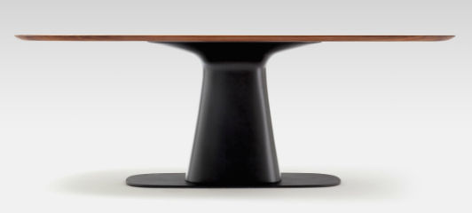 современный столовый стол из дуба из орехового дерева