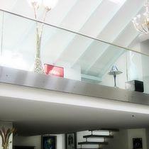 Ограждение из нержавеющей стали / со стеклянными панелями / для интерьера / для кровати-чердака