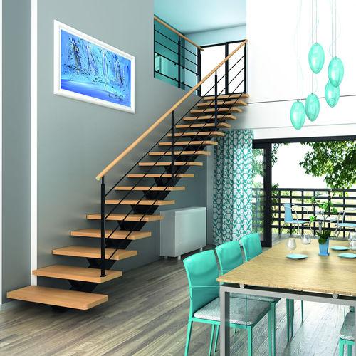 полуповоротная лестница / в четверть оборота / прямая / металлическая конструкция