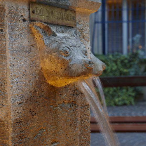 общественный фонтан / из камня / классический