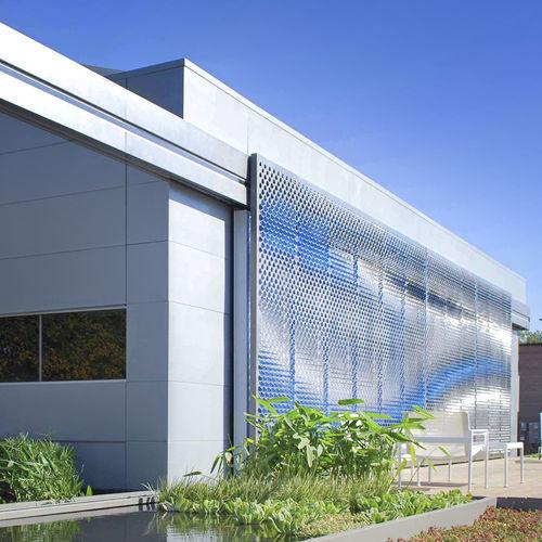 защита от солнца из нержавеющей стали / для фасада / перфорированный / раздвижной