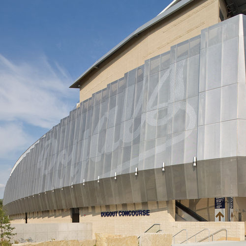 защита от солнца из нержавеющей стали / для фасада / перфорированный