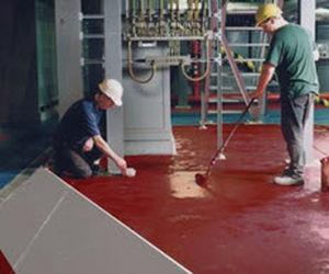 напольное покрытие из бетона / вощеное / имитация вощеного бетона / противоскользящее