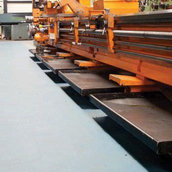 напольное покрытие из полиуретана / гладкое / имитация бетона / с высоким сопротивлением