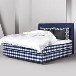 двойная кровать / современная / обитая / из хлопчатобумажной ткани