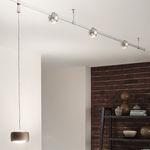 светодиодный светильник на рейке / изогнутый / из металла / из стекла