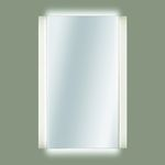 настенное зеркало / современное / прямоугольное / из нержавеющей стали