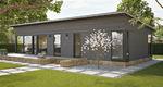 пассивный дом / индивидуальный / из штабелированного массивного лесоматериала / современный