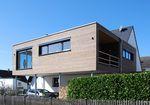 сборный дом / современный / с деревянным каркасом / с террасой