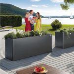 кадка для садовых растений из гальванизированной стали / прямоугольная / современная