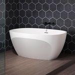 прямая ванна / овальная / из Solid Surface