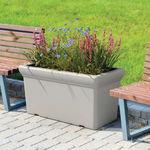 кадка для садовых растений из полиэтилена / прямоугольная / современная / для общественных мест