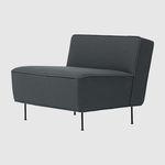 низкое кресло скандинавский дизайн / из ткани / черное / коричневое