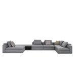 модульный диван / современный / из ткани