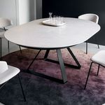 современный стол / из металла / из керамики / круглый