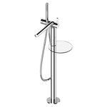 однорычажный смеситель для ванны / напольный / из хромированного металла / 1 отверстие