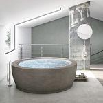 ванна для установки / круглая / из композита / двойная