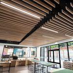 подвесной потолок из металла / пластинчатый / акустический / перфорированный