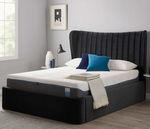 кровать размер king size / классическая / обитая / с изголовьем кровати