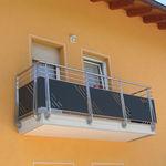 балкон с панелями / решетчатый / из нержавеющей стали