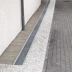 лоток канализации для фасада / из стали / с решеткой