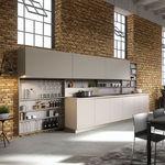 современная кухня / из фанерованной древесины / из лакированной древесины / островного типа