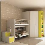 двухэтажная кровать / простая / современная / для детей