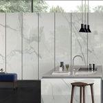 плита из камня из керамогранита / для напольной поверхности / для внутренней компоновки / для фасада
