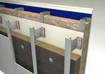 термический изоляционный материал / из асбеста / для фасада / из панелей