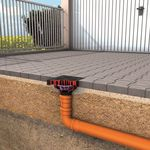 сливной сифон из нержавеющей стали / для дорожной сети / квадратный