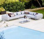 модульный диван / скандинавский дизайн / для сада / из алюминия