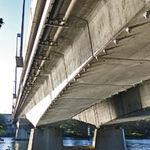 мост в форме дуги / из предварительно напряженного бетона / сборный