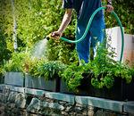 кадка для садовых растений из переработанного пластика / прямоугольная / современная / для гостиницы