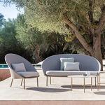 современный диван / для сада / из алюминия / из ткани