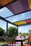 пристенная пергола / из алюминия / сдвижная крыша / модульная
