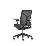 современное кресло для офиса / сетчатое / эргономичное / красное