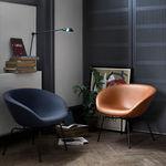 современное кресло / текстильное / из кожи / из стали