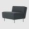 низкое кресло скандинавский дизайн / из ткани / черное / коричневоеMODERN LINE by Greta M. GrossmanGUBI