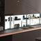 современная этажерка / из стекла / для кухни / с подсветкойAIR LOGICA SYSTEMVALCUCINE