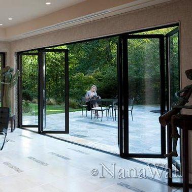 Раздвижное и и складываемое панорамное окно / из алюминия / с двойным  остеклением / с термовкладышем SL60 NanaWall