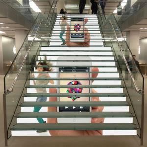 лестница со встроенным светодиодным светильником