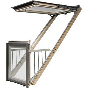 проекционное окно с балконом