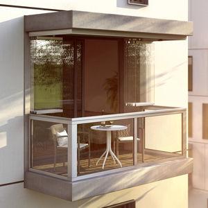 раздвижное и и складываемое окно с балконом