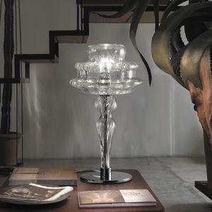 настольная лампа / классическая / из муранского стекла / белая