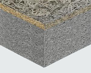 сэндвич-панель для кровли / для стены / поверхность из древесного волокна / прокладка из пенополистирола
