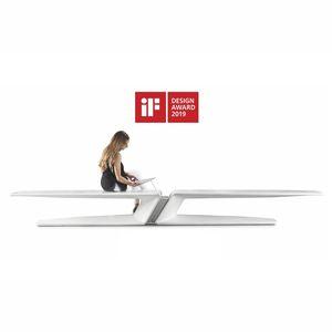 общественная скамейка / уникальный дизайн / из высокопрочного бетона / с зарядным устройством для смартфона и планшета