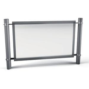 защитный барьер / неподвижный / из гальванизированной стали / для общественных мест