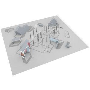 полоса препятствий для игровой площадки / для спортивного учреждения