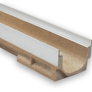 лоток канализации из резинобетона / из гальванизированной стали / с решеткой / для общественных мест