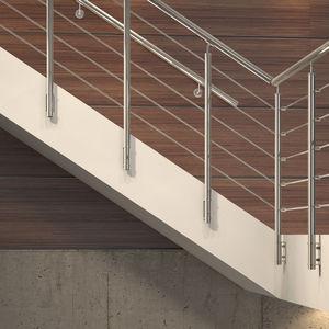 ограждение из нержавеющей стали / со стеклянными панелями / решетчатое / для интерьера